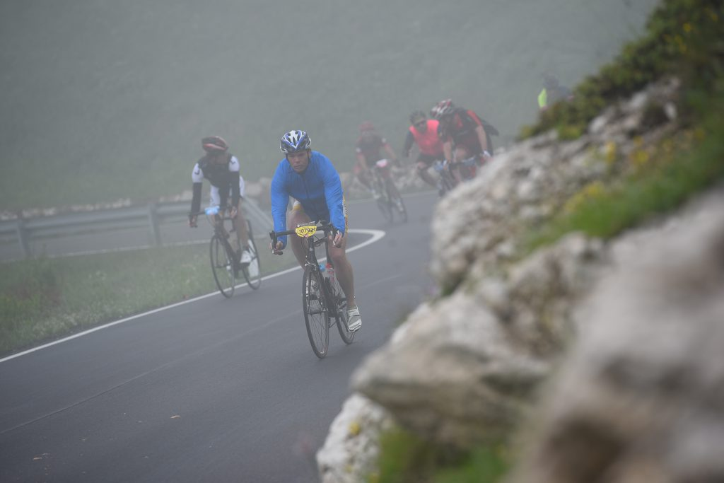 Misty and cold downhill