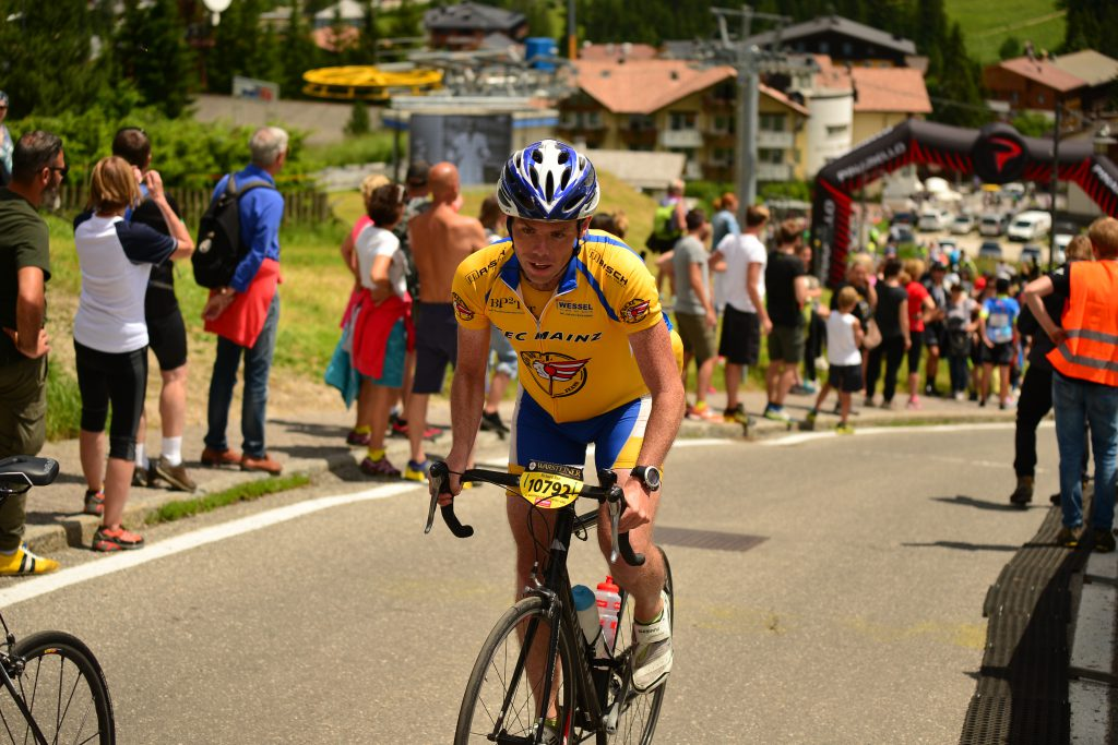 The kick in the tail of the Maratona - the steep Giat